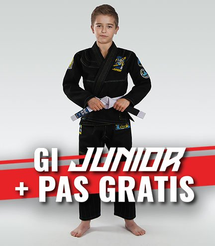 """Dětské kimono Gi BJJ  Ground Game """"Junior 3.0"""" (Černé) + pásek ZDARMA"""