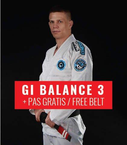 "Kimono Gi BJJ Ground Game  ""Balance 3"" (Bílé) + pásek ZDARMA"
