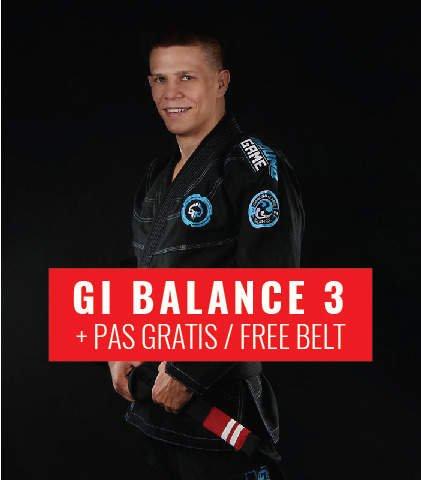 "Kimono Gi BJJ Ground Game  ""Balance 3"" (Černé) + pásek ZDARMA"
