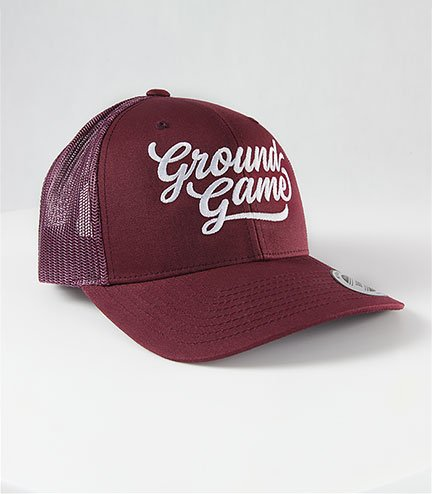 "Kšiltovka Ground Game ""College Burgund Trucker"""
