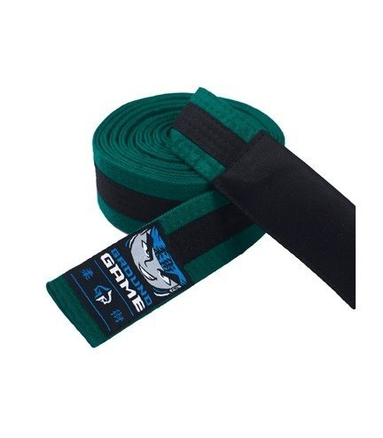 Pásek BJJ Ground Game dětský (Zeleno-černý)