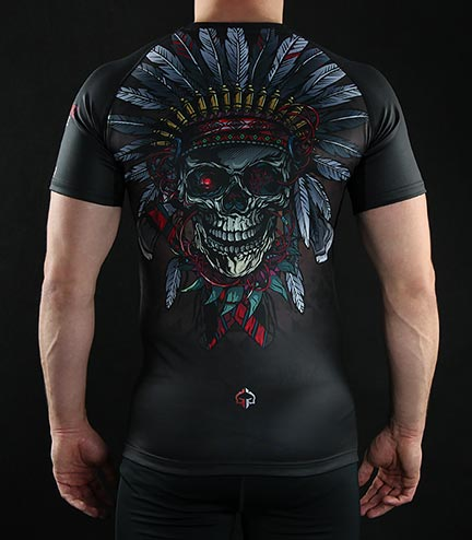 "Rashguard Ground Game ""Indian Skull"""