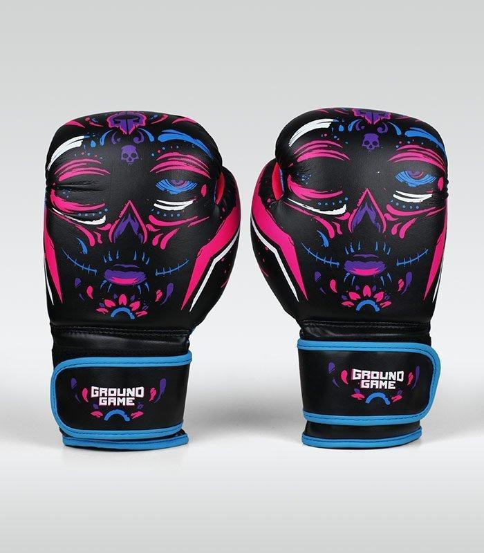 """Dámské boxerské rukavice Ground Game  """"La Muerta"""" 12 oz"""