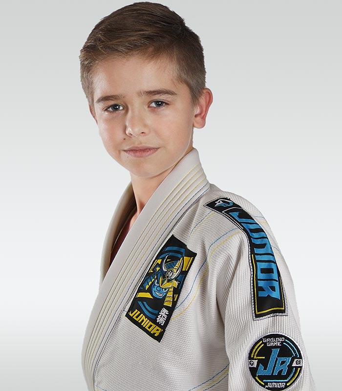 """Dětské kimono GI pro BJJ Ground Game  """"Junior 3.0"""" (Bílé)"""
