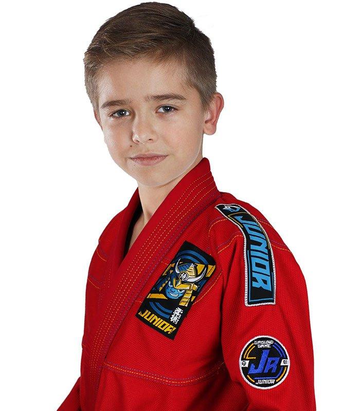 """Dětské kimono GI pro BJJ Ground Game """"Junior 3.0"""" (Červené)"""