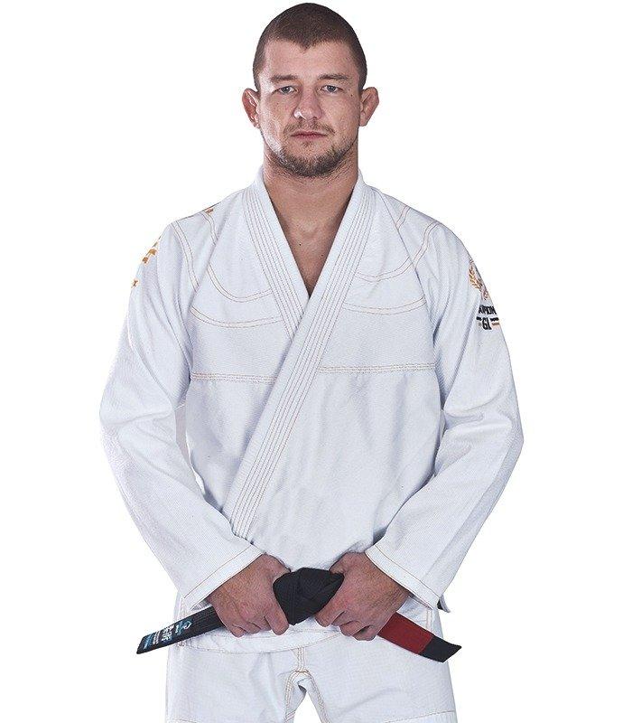 "Kimono GI BJJ  Ground Game ""Champion"" (Bílé) + pásek ZDARMA"