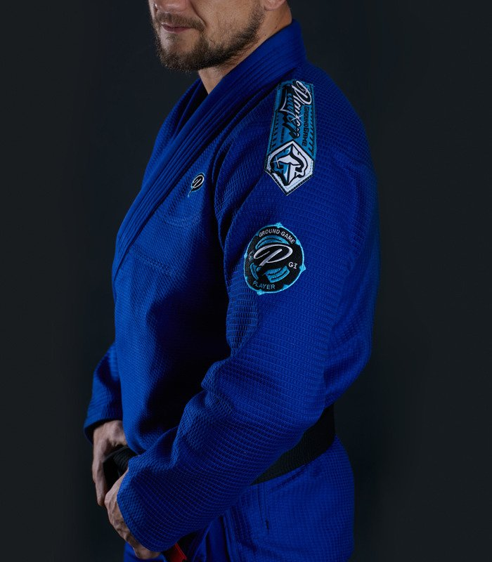 "Kimono Gi BJJ  Ground Game ""Player"" (Modré)"
