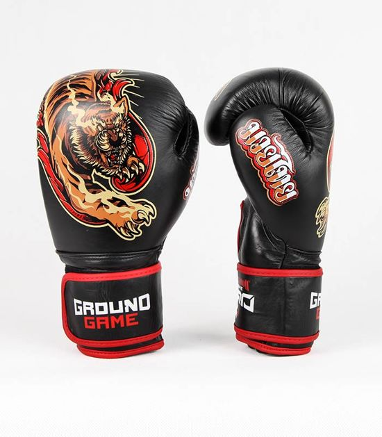 "Boxerské rukavice PRO Ground Game ""Red Tiger"" 14 oz"