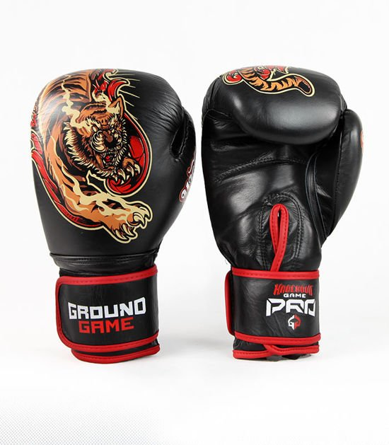 "Boxerské rukavice PRO Ground Game ""Red Tiger"" 16 oz"
