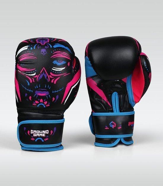 """Dámské boxerské rukavice Ground Game  """"La Muerta"""" 16 oz"""