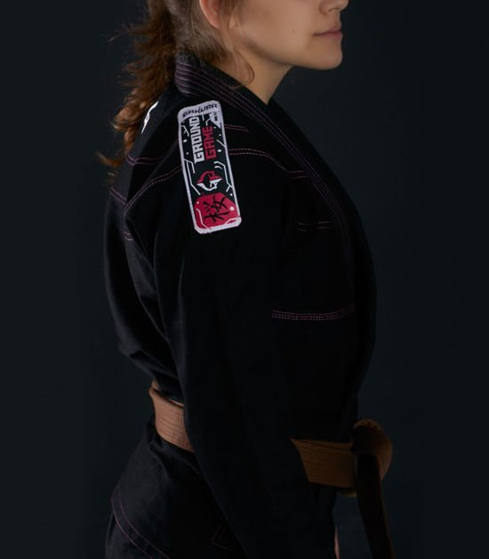 """Dámské kimono GI BJJ  Ground Game """"Sakura"""" (Černé)"""