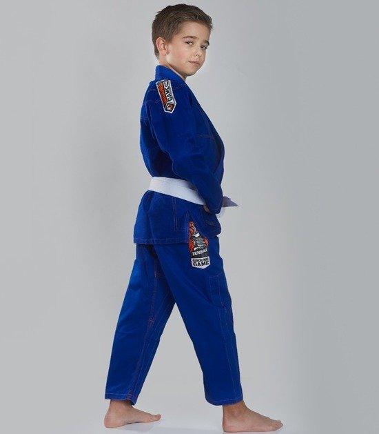 """Dětské kimono GI pro BJJ Ground Game  """"Tensai"""" (Modré)"""