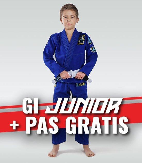 """Dětské kimono Gi BJJ Ground Game """"Junior 3.0"""" (Modré) + pásek ZDARMA"""