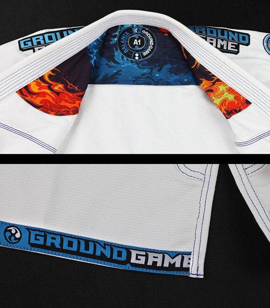 "Kimono Gi BJJ Ground Game  ""Balance 3"" (Bílé)"