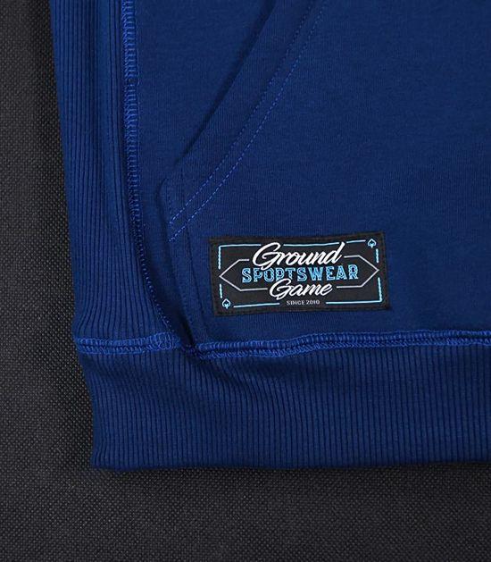 """Pánská mikina s kapucí Ground Game  """"Shield"""" modrá"""