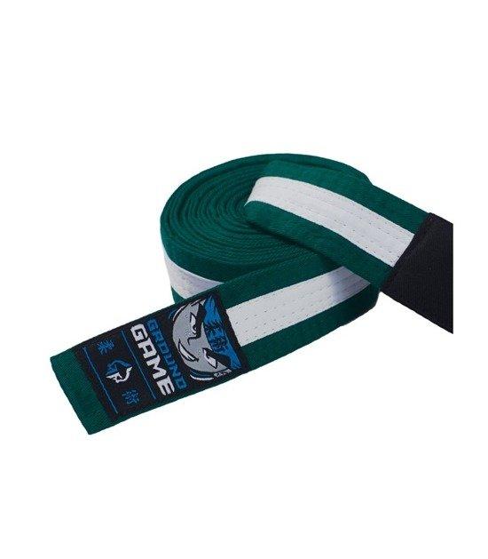 Pásek BJJ Ground Game dětský (Zeleno-bílý)
