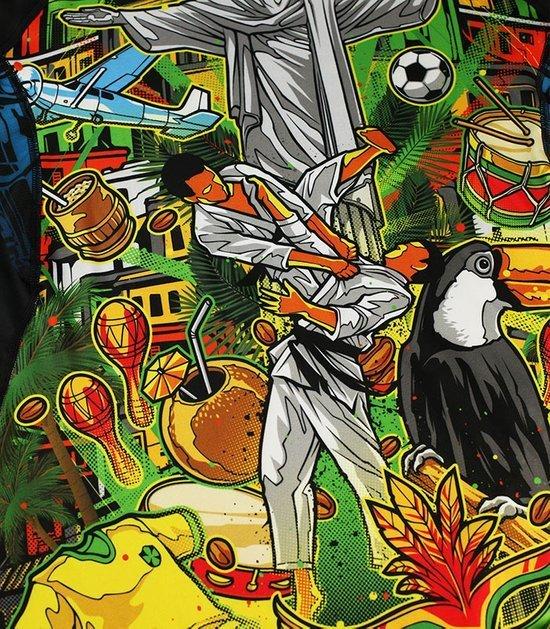 """Rashguard Ground Game """"Brasil"""" krátky rukáv"""
