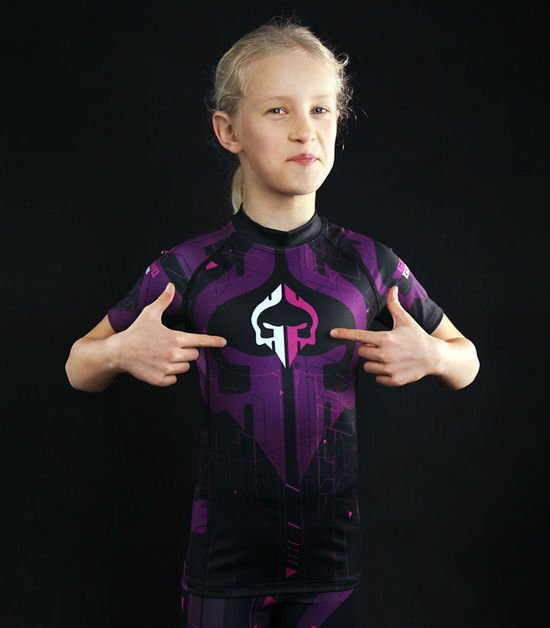 "Rashguard  Ground Game ""Shapes Kids"" fialový"