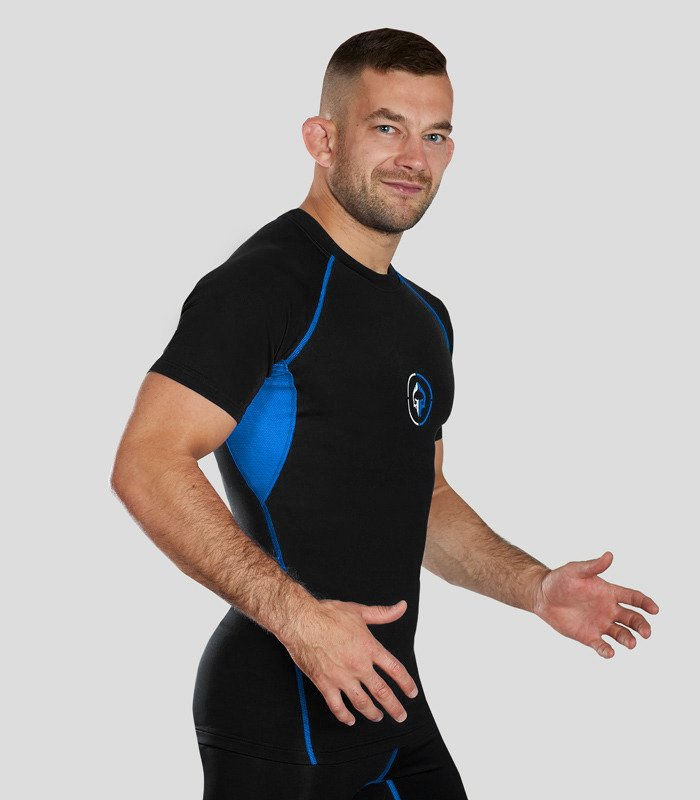 "Rashguard ""Athletic 2.0"" short sleeve (Black)"