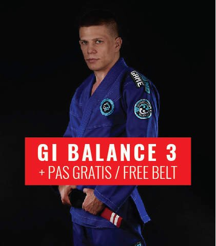 "BJJ GI ""Balance 3"" (Blue) + FREE Belt"