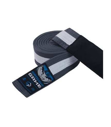 BJJ Kids Belt (Grey with white stripe)