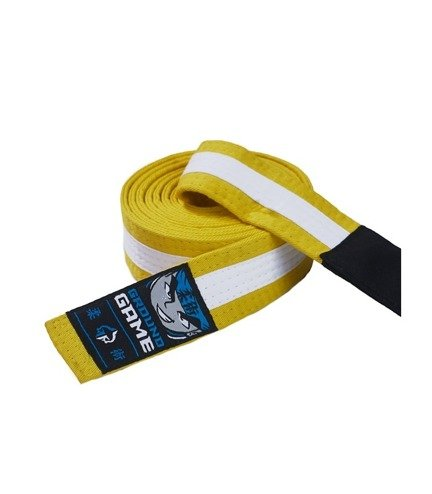 BJJ Kids Belt (Yellow with white stripe)