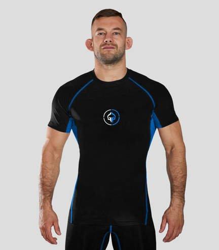 "Rashguard ""Athletic 2.0"" short sleeve (Black)"