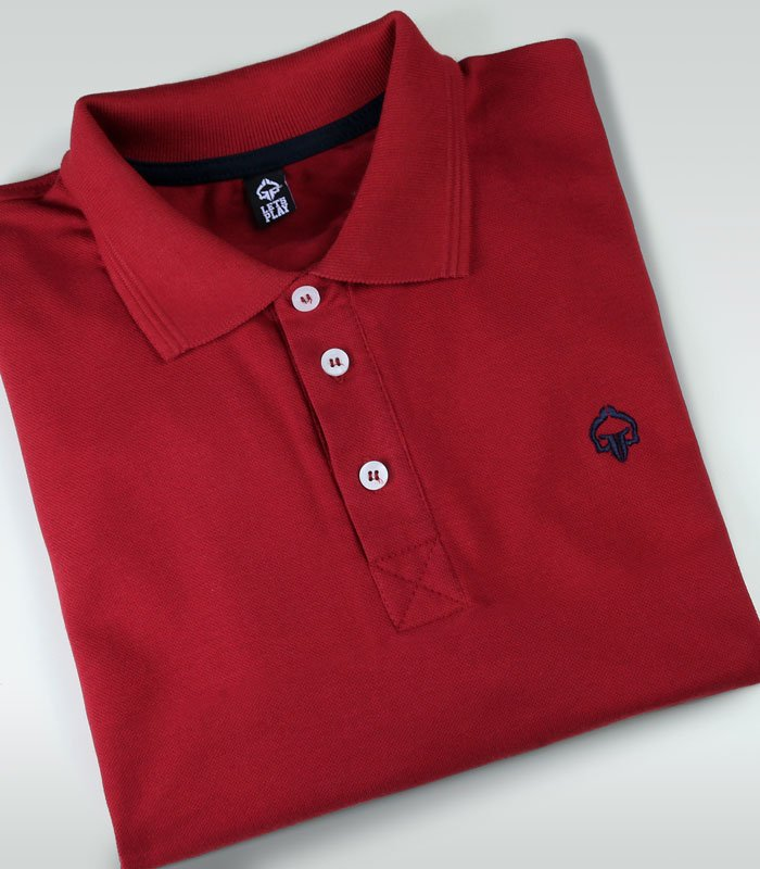 """""""Minimal"""" Polo Red"""