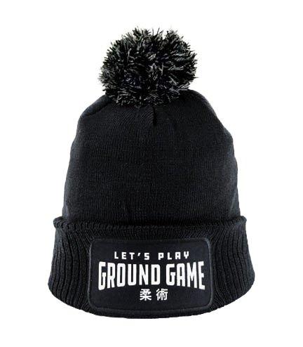 """Winter Hat """"Ground Game"""" Black"""