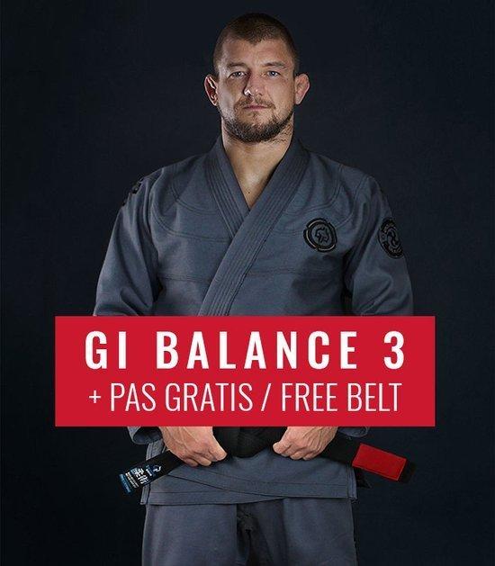 "BJJ GI ""Balance 3 Shadow"" (Grey)  + FREE Belt"