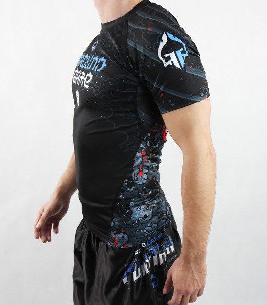 """Rashguard """"Oni Black"""" short sleeve"""