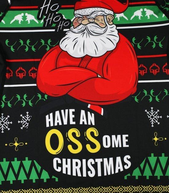 """Rashguard  """"Ossome Christmas"""" Ugly Christmas Sweater style"""
