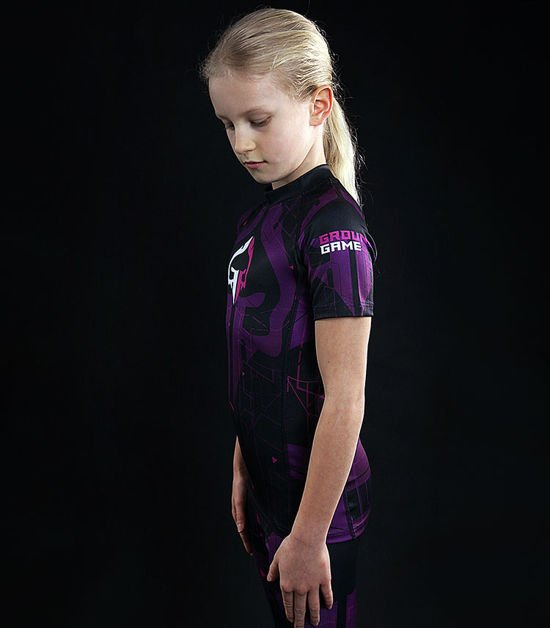 "Rashguard ""Shapes Kids"" violet"
