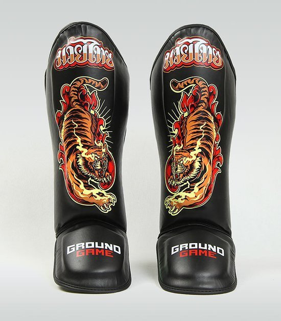 "Shin Guards ""Red Tiger"""