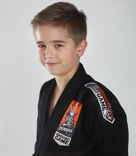 """Tensai"" BJJ Kids GI (Black) + FREE Belt"