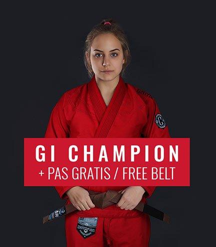 "Kimono/GI damskie do BJJ ""Champion 2.0"" (Czerwone) + pas GRATIS"