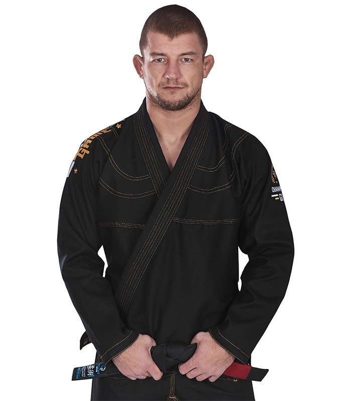 "GI do BJJ ""Champion"" (Czarne) + pas GRATIS"
