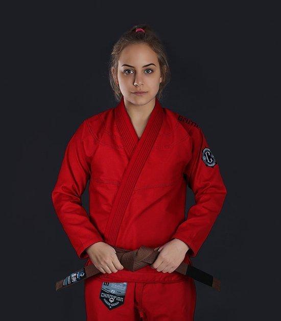 """Kimono/GI damskie do BJJ """"Champion 2.0"""" (Czerwone)"""