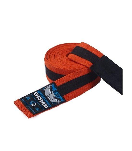 Pas do BJJ dla dzieci (Pomarańczowy z czarną belką)