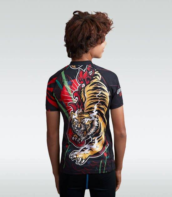 """Rashguard """"Red Tiger Kids""""  z krótkim rękawem"""
