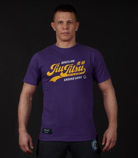 """T-shirt """"Jiu Jitsu"""" Fioletowy"""
